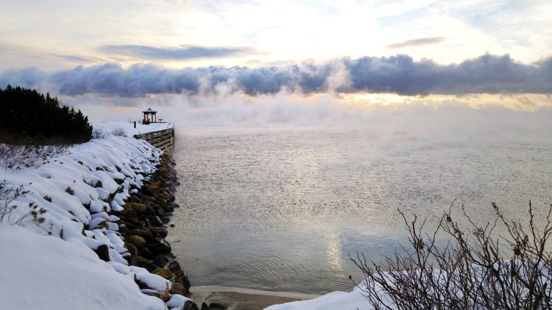Le Quai Casgrain à La Malbaie, en hiver. Charleovix.